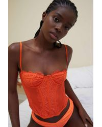 Out From Under Modern Love Corset - Orange
