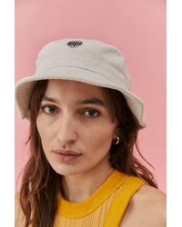 Urban Outfitters Uo Bubble Corduroy Bucket Hat - White