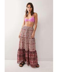 Urban Outfitters Uo Kezia Maxi Skirt - Multicolour