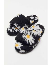 Urban Outfitters Uo Suzy Faux Sherpa Slipper - Blue