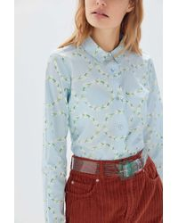 e002819d Urban Outfitters BDG Classic Printed Oxford Button-Down Shirt - Lyst