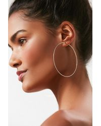 Urban Outfitters - Sterling Silver Plated Large Hoop Earring - Lyst