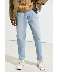BDG Cielo Light Wash Destructed Dad Jean - Blue