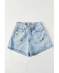 Urban Outfitters Vintage Sunflower Denim Short - Blue