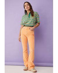 BDG Tangerine Corduroy High-waist Flare Jeans - Orange