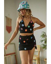 Urban Outfitters - Uo Black Crochet Daisy Bralette Top - Lyst