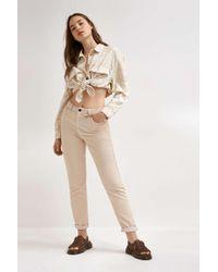 BDG Ecru Corduroy Mom Trousers - Womens 30w 30l - Natural