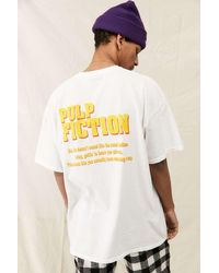 Urban Outfitters Uo White Pulp Fiction Print T-shirt