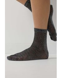 Urban Outfitters Uo Black Shimmer Socks