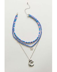 Urban Outfitters - Celestial Beaded Layer Necklace - Lyst