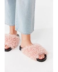 Urban Outfitters | Uo Faux Shearling Pool Slide | Lyst