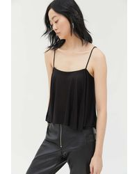 Urban Outfitters Uo Cristian Ruffle Cami - Black