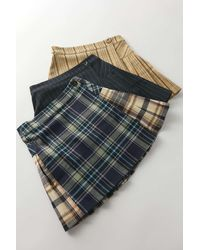Urban Outfitters Uo Pleated Mini Skirt - Blue