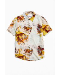 Corridor NYC Old West Map Button-down Shirt - White