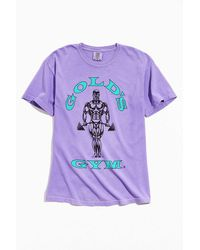 Urban Outfitters Gold's Gym Pigment Dye Tee - Blue