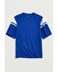 BDG Ribbed Inset Tee - Blue