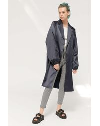 Urban Outfitters Uo Tilda Satin Double-breasted Trench Coat - Multicolor