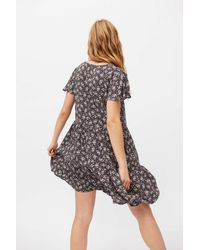 Dress Forum Printed Frock Mini Dress - Gray
