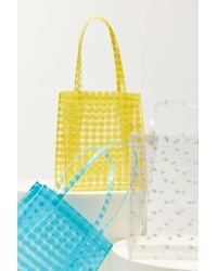 Urban Outfitters Printed Clear Mini Tote Bag - Yellow
