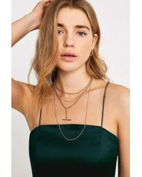 Urban Outfitters - Multi-layer T-bar Gold Chain Necklace - Womens All - Lyst