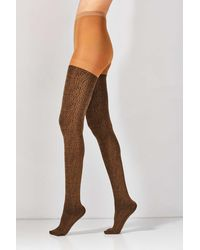 Out From Under Leopard Tight - Brown
