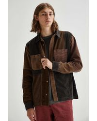 Urban Outfitters Uo Colourblock Corduroy Shirt - Brown