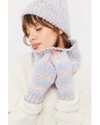 Urban Outfitters Uo Space-dye Fingerless Glove - Multicolor