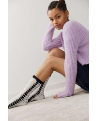 Urban Outfitters Uo Happy Face Tie-dye Socks - Multicolour