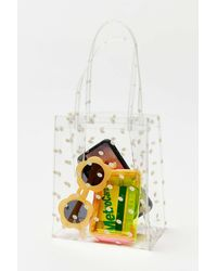 Urban Outfitters Printed Clear Mini Tote Bag - White