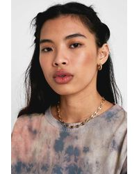Urban Outfitters - Gold Button Chain Necklace - Womens All - Lyst