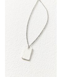 Urban Outfitters - Billie Hammered Tag Necklace - Lyst