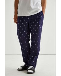 Polo Ralph Lauren Allover Print Sleep Pant - Blue