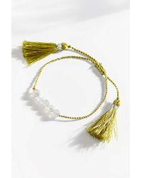 Urban Outfitters Grace Genuine Stone Bracelet - Metallic