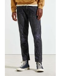 BDG Paint Splatter Dad Jean - Blue