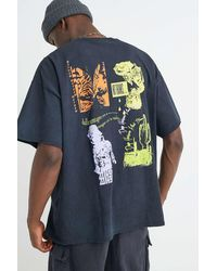 Urban Outfitters Uo Neon Print Black T-shirt