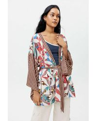 Urban Outfitters Willow Patchwork Robe - Brown