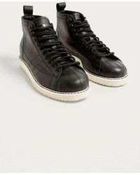 adidas Originals - Superstar Black Boots - Womens Uk 4 - Lyst