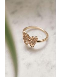 Urban Outfitters Rhinestone Butterfly Ring - Multicolor