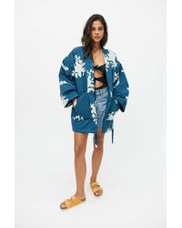 Urban Outfitters Uo Hana Embellished Robe - Blue