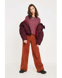 BDG - Chestnut Corduroy Puddle Trousers - Womens 28w 32l - Lyst