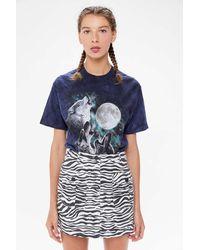 Urban Outfitters Uo Mia Zebra Print Mini Skirt - Blue