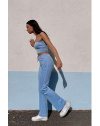 Juicy Couture Uo Exclusive Blue Flared Track Trousers