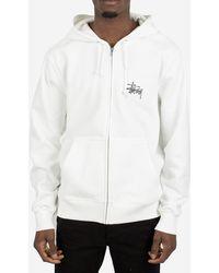 Stussy Felpa Basic Zip Hood - White
