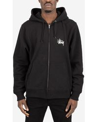 Stussy - Felpa Basic Zip Hood - Lyst