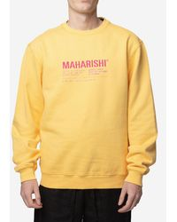 Maharishi Felpa Maha Miltype Crew - Yellow