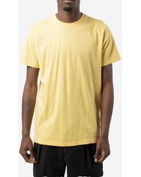 COLORFUL STANDARD T-shirt in cotone - Giallo