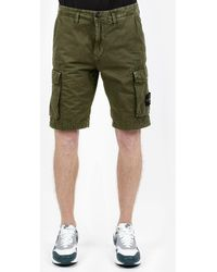 Stone Island Shorts Bermuda Cargo - Green