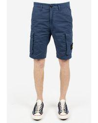 Stone Island Shorts Cargo - Blue