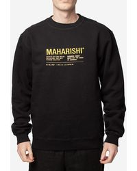 Maharishi Felpa Maha Miltype Crew - Black