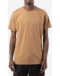 COLORFUL STANDARD T-shirt in cotone - Marrone